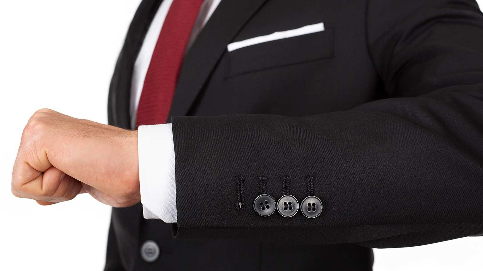 Solid Black Suit - slider image 1