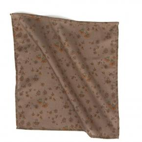 Brown & Orange Pocket Square With A Floral Pattern - thumbnail image 1