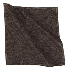 Brown Paisley Cotton Pocket Square - thumbnail image 1