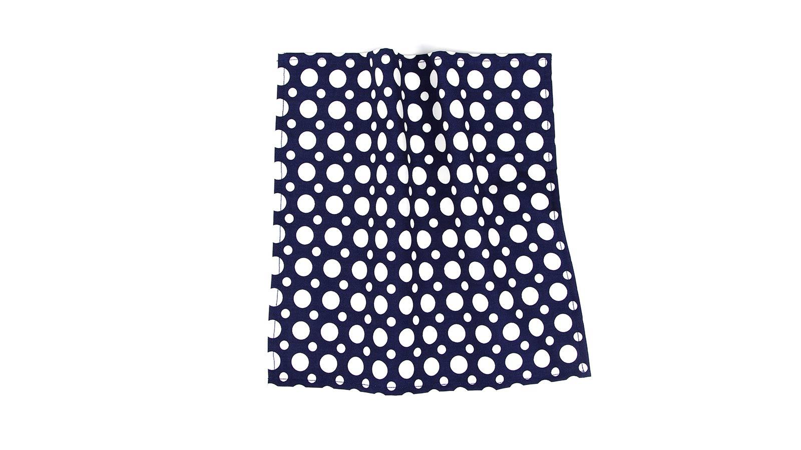 Blue Dots Cotton Pocket Square - slider image