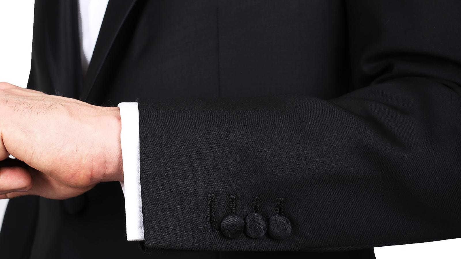 1663 Black Tuxedo with notch lapels - slider image 1