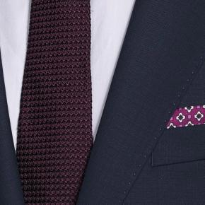 Suit in Navy Pick & Pick Wool - thumbnail image 1