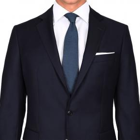 Suit in Solid Dark Navy Blue Wool - thumbnail image 1
