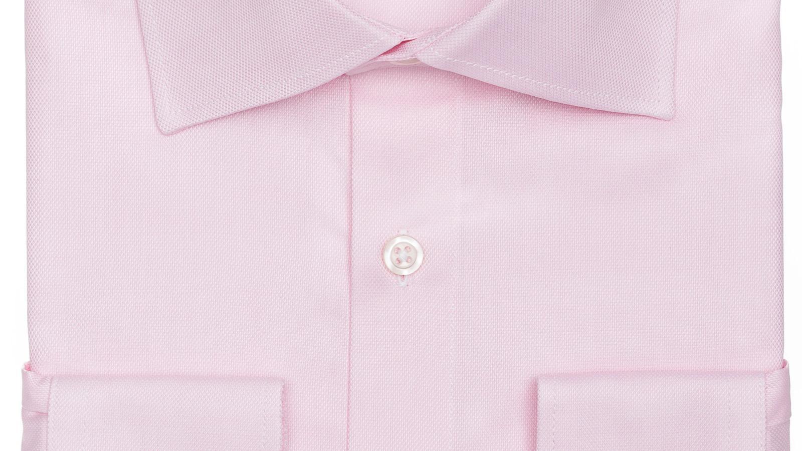 Salmon Two-Ply Cotton Royal Oxford Shirt - slider image