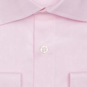 Salmon Two-Ply Cotton Royal Oxford Shirt - thumbnail image 1