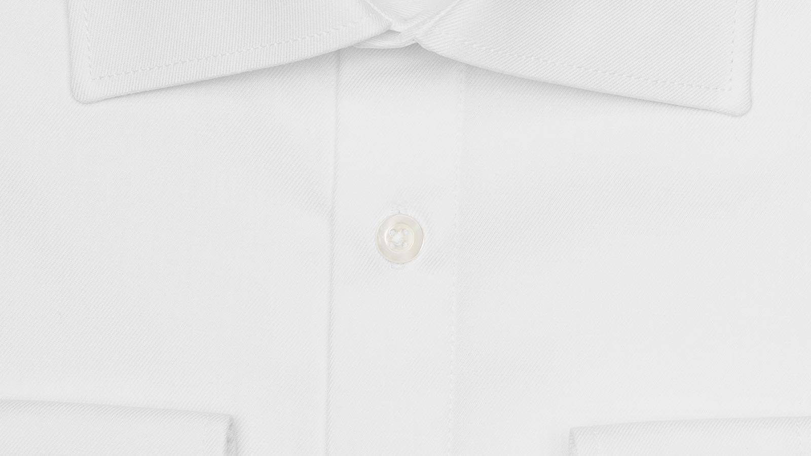 White Cotton Twill Shirt - slider image
