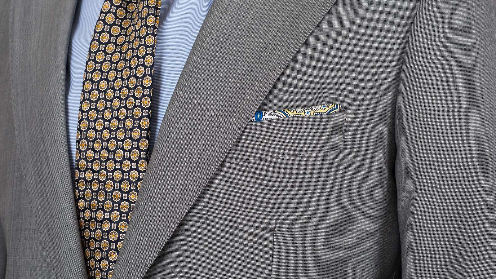 Suit in Light Grey Wool & Mohair - slider image 1