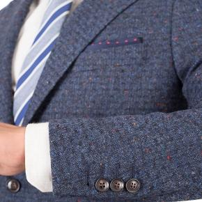 Suit in Blue Donegal Shadow Tweed - thumbnail image 1