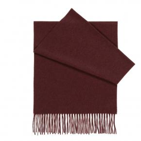 Solid Burgundy Cashmere Scarf  - thumbnail image 1