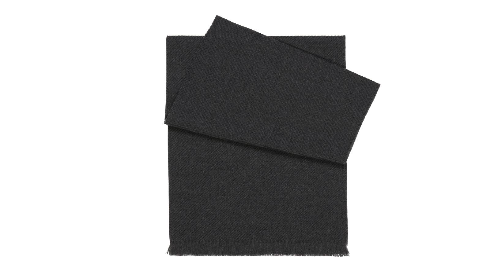 Solid Charcoal Wool Scarf - slider image