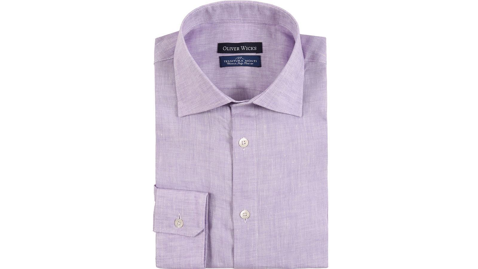 Lavender Linen Shirt - slider image
