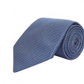 Light Blue Hopsack Silk Tie - thumbnail image 1
