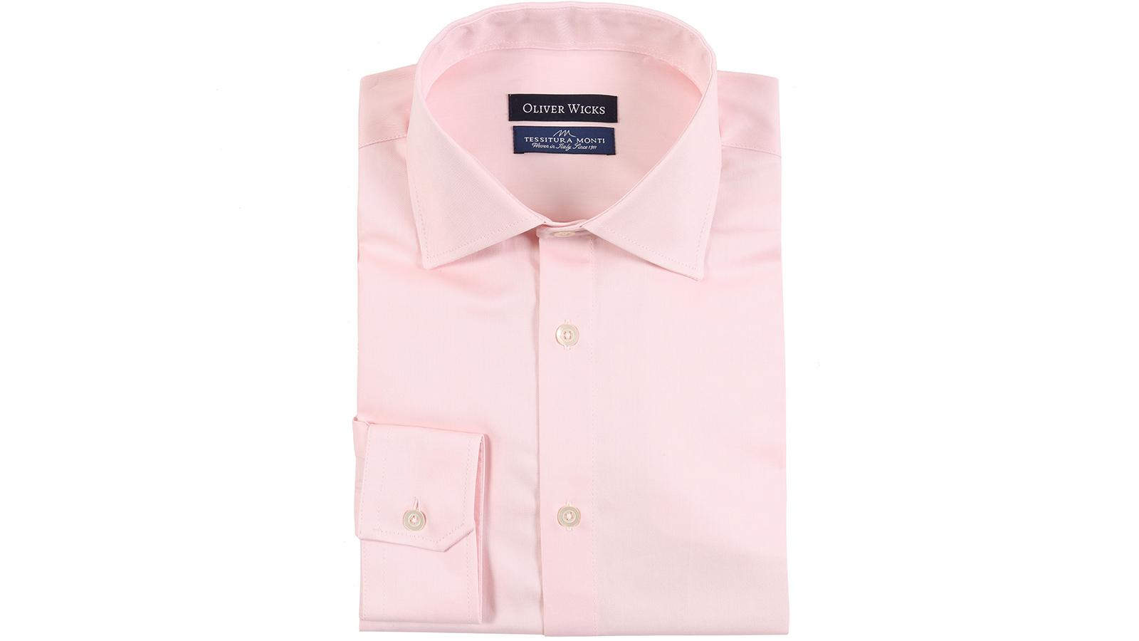 Melon Pink Cotton Twill Shirt - slider image
