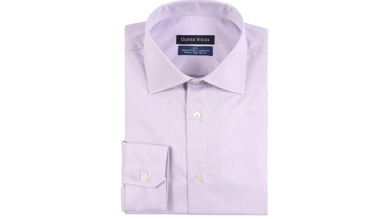 Lavender Cotton Twill Shirt - slider image