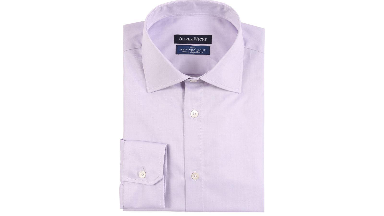 Lavender Cotton Twill Shirt - slider image