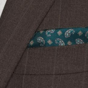 Traditionally Worsted Green Stripe Brown Suit - thumbnail image 1