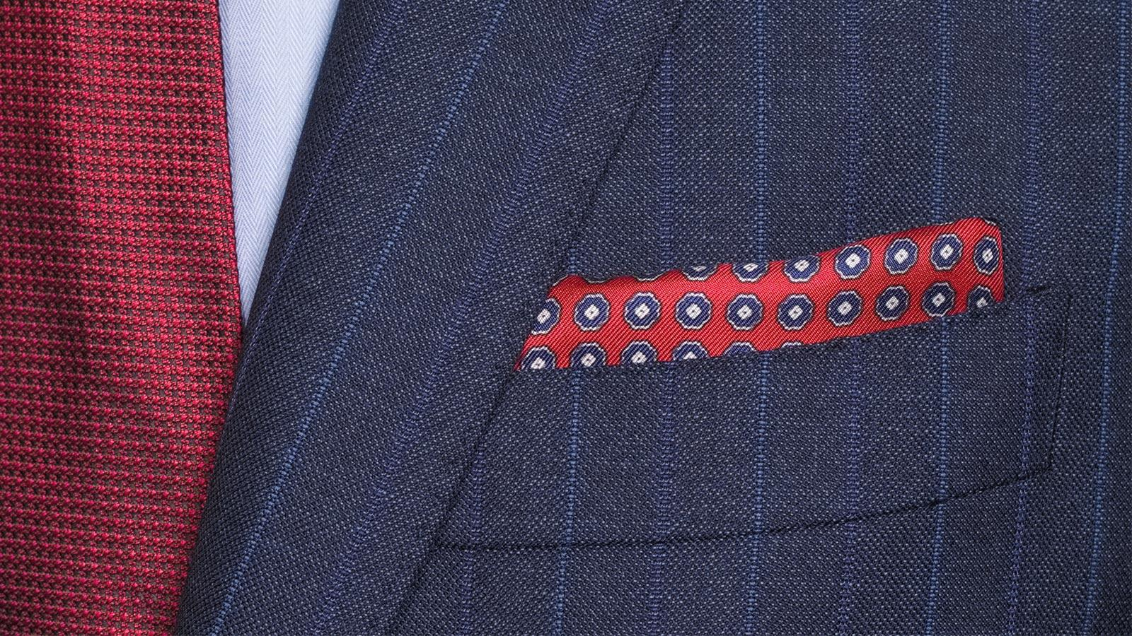 Traditionally Worsted Blue Stripe Navy Suit - slider image 1