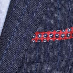 Traditionally Worsted Blue Stripe Navy Suit - thumbnail image 1