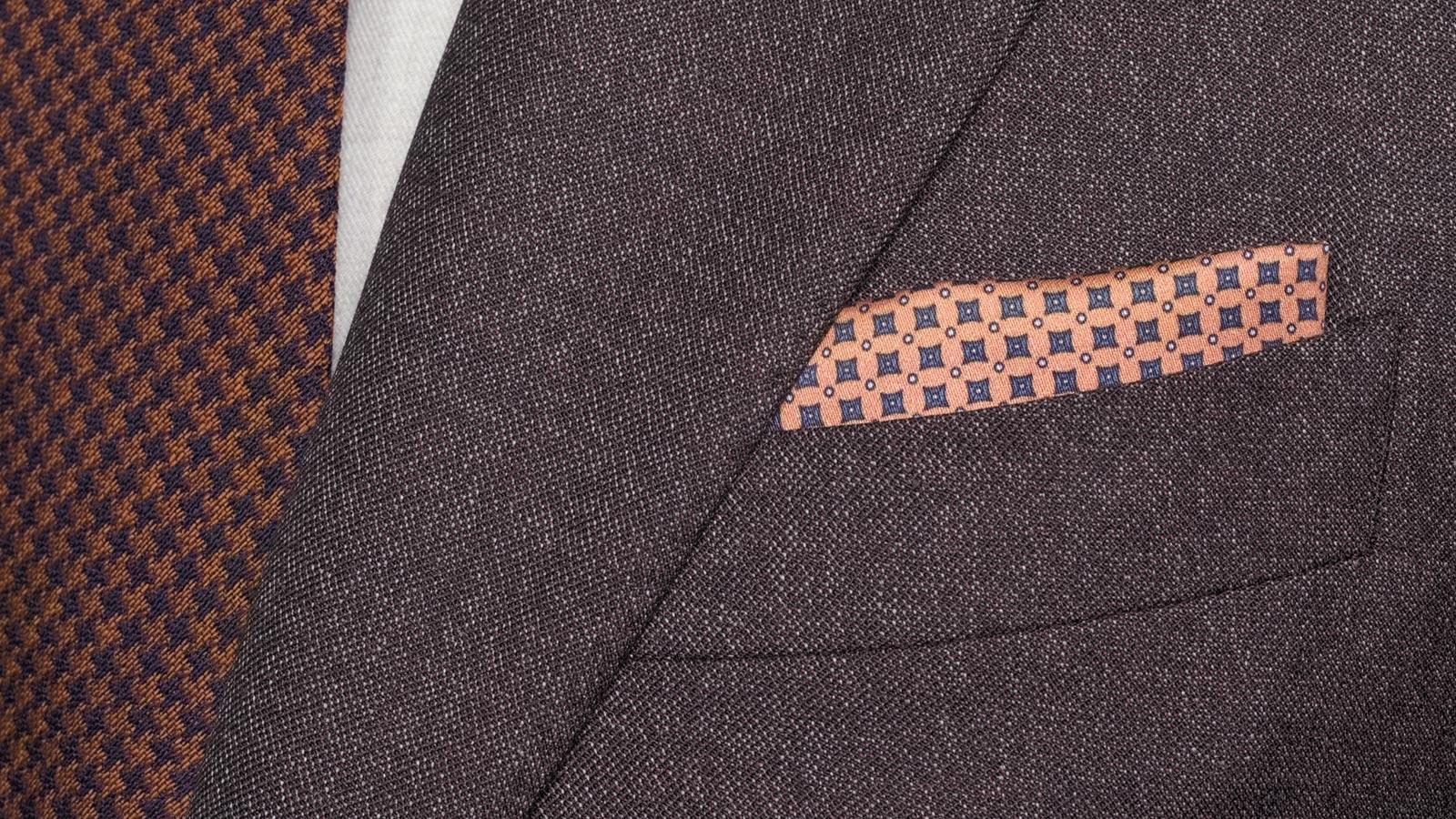 Burgundy and Brown Mouline Suit - slider image 1