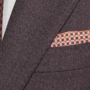 Burgundy and Brown Mouline Suit - thumbnail image 1