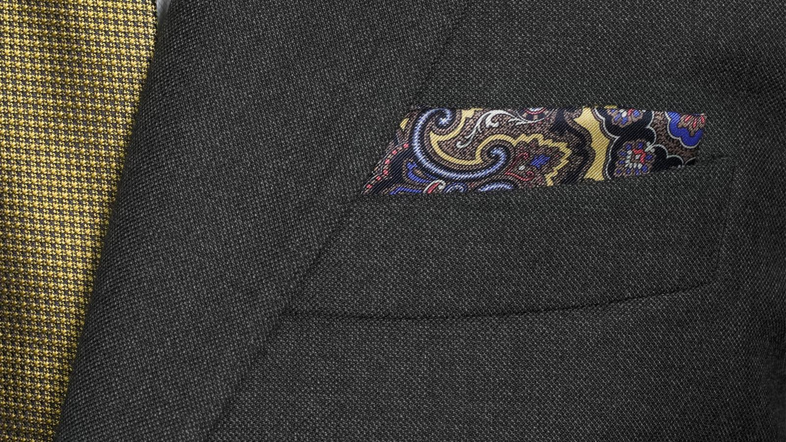 Traditionally Worsted Charcoal Melange Suit - slider image 1