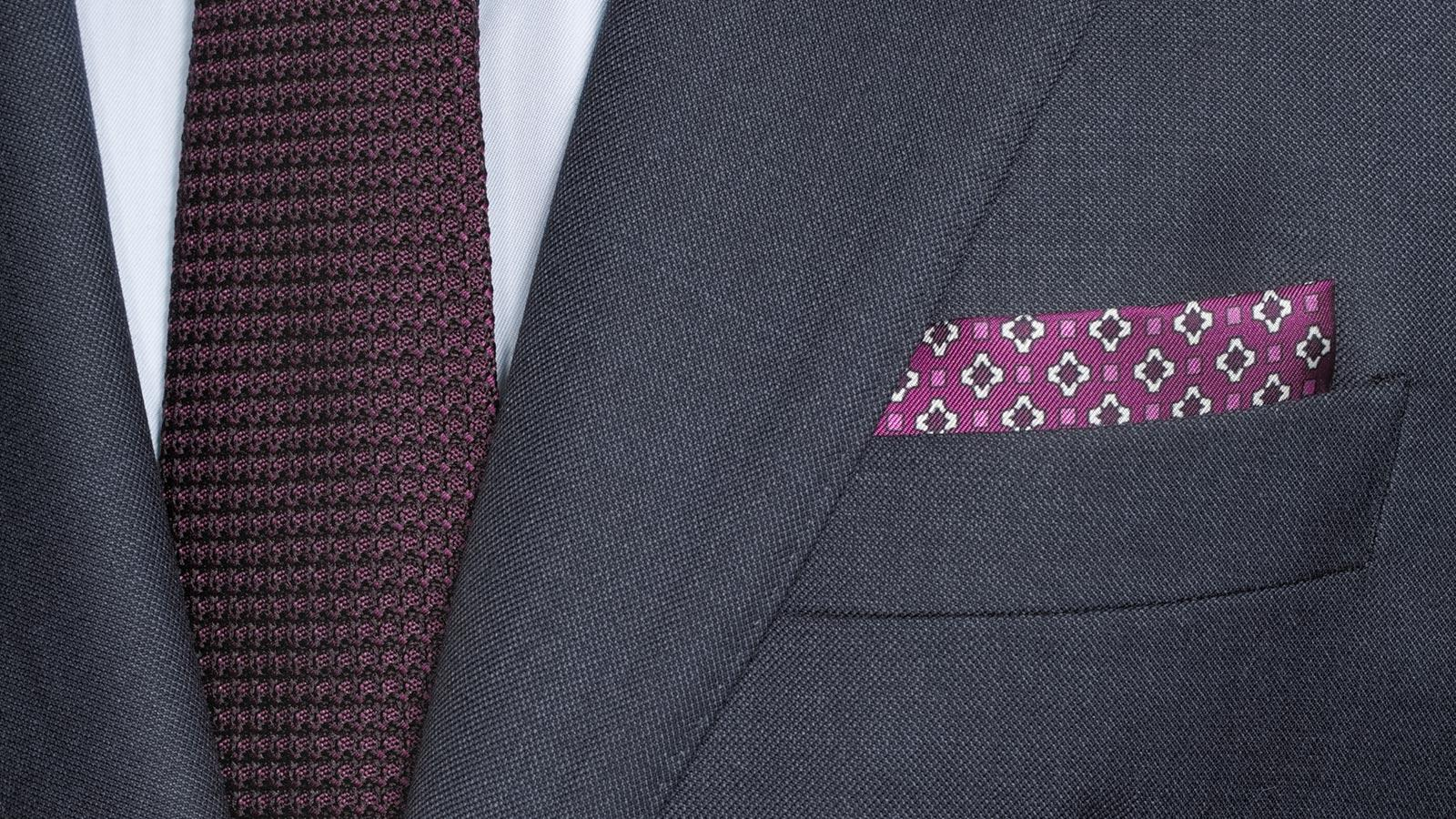 Traditionally Worsted Navy Melange Suit - slider image 1