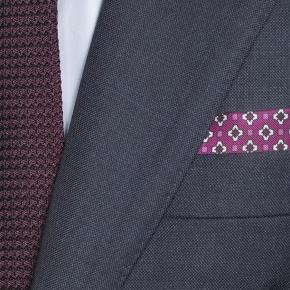 Traditionally Worsted Navy Melange Suit - thumbnail image 1