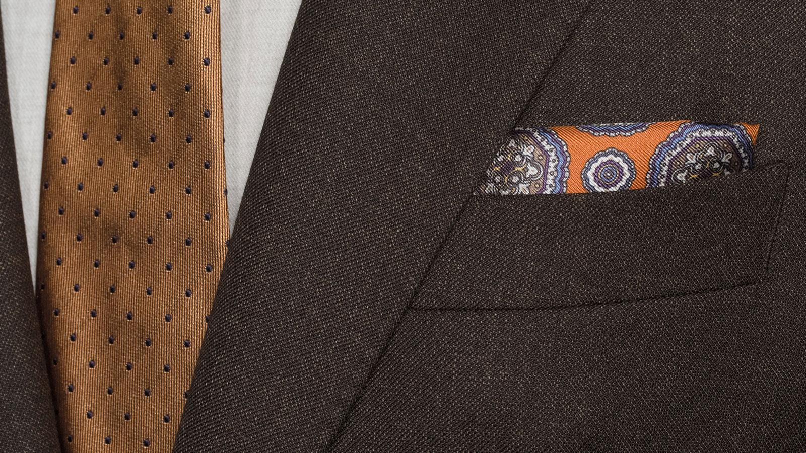 Traditionally Worsted Chocolate Brown Melange Suit - slider image 1