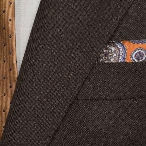 Traditionally Worsted Chocolate Brown Melange Suit - thumbnail image 1
