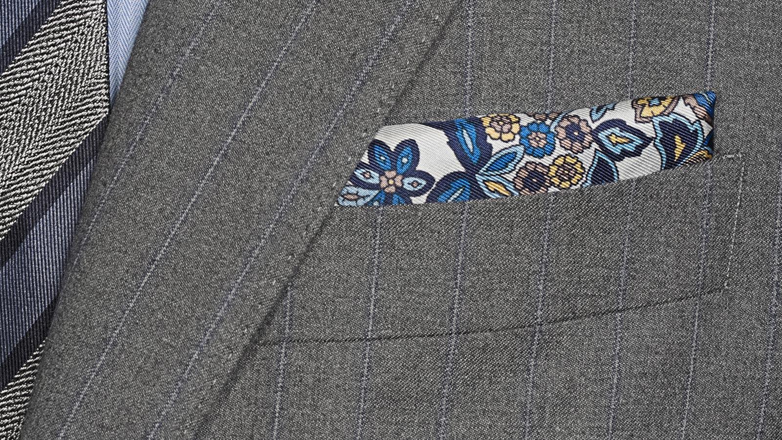 Sartorial Blue Stripe Grey 160s Suit - slider image 1