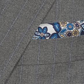 Sartorial Blue Stripe Grey 160s Suit - thumbnail image 1