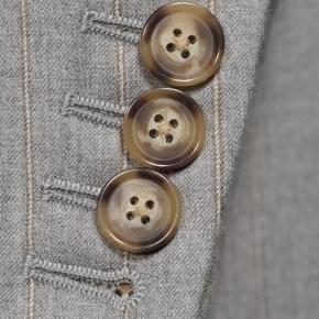 Sartorial Mustard Stripe Light Grey 160s Suit - thumbnail image 2