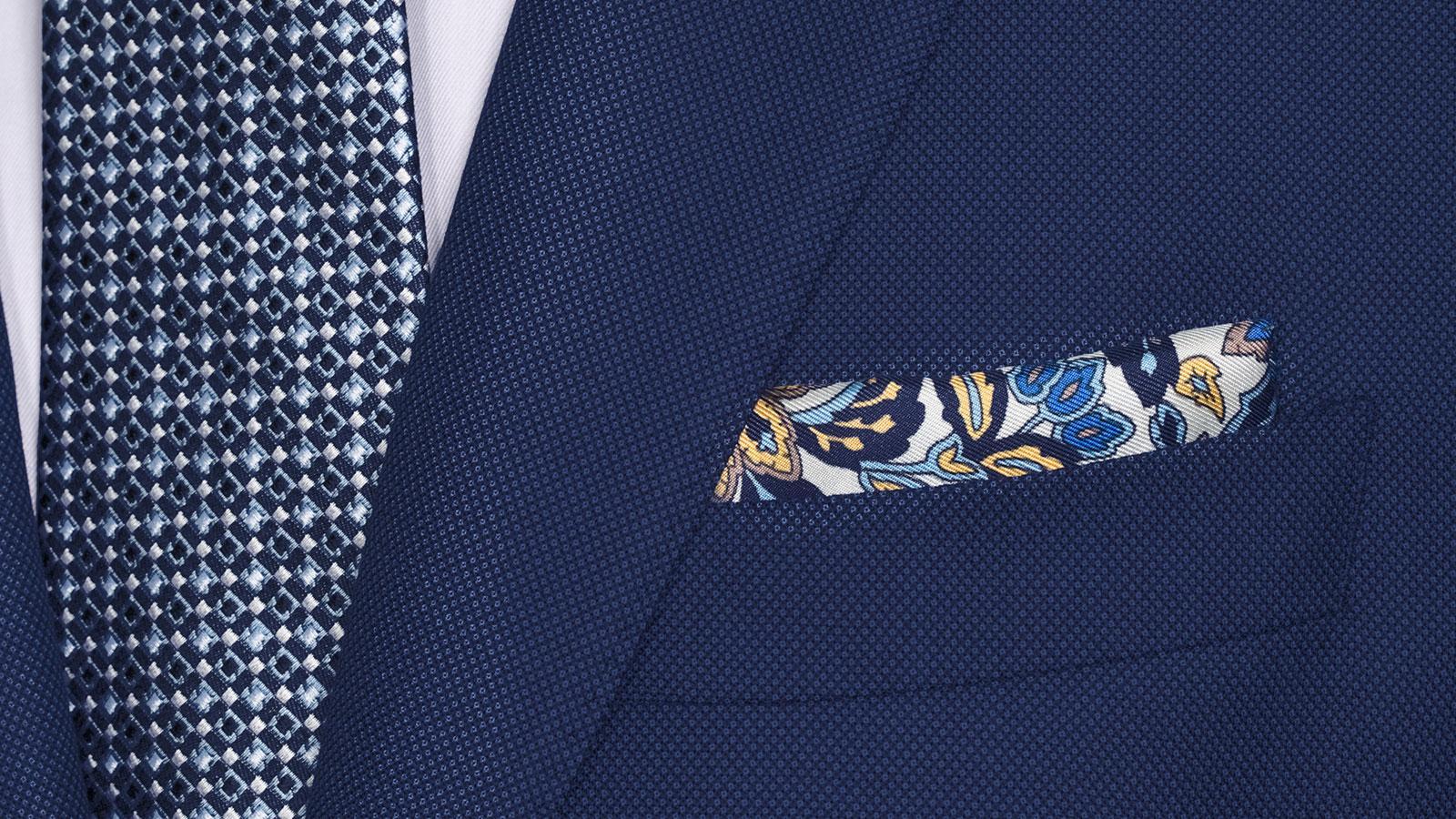 Sartorial Royal Blue Birdseye 160s Suit - slider image 1