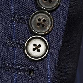 Sartorial Navy Blue Wide Stripe 160s Suit - thumbnail image 2
