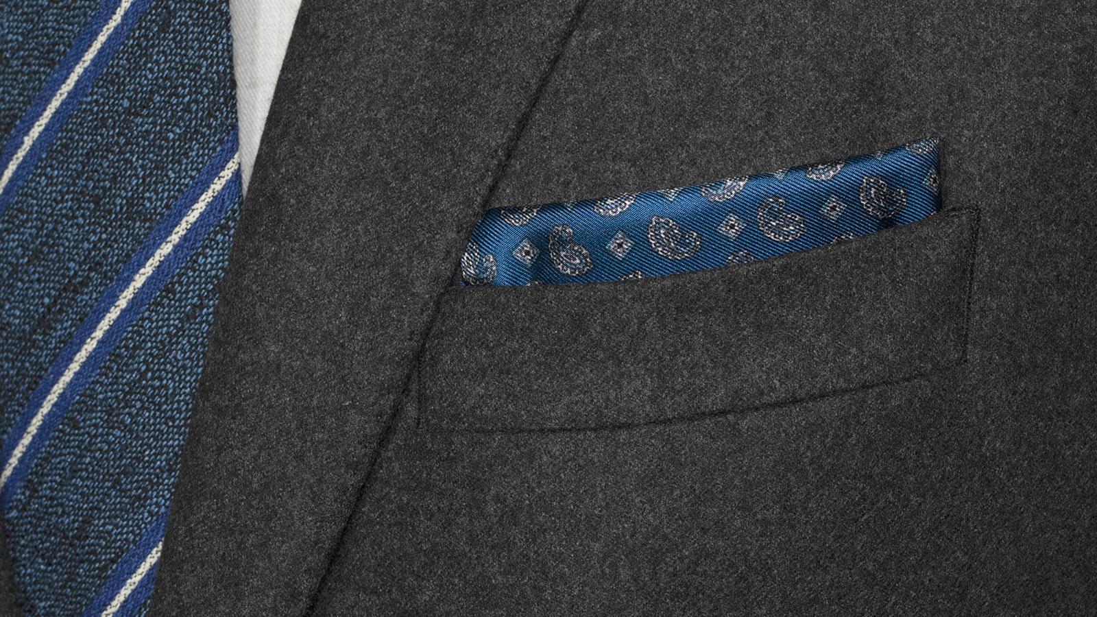 Sartorial Dark Grey Flannel 180s Suit - slider image 1