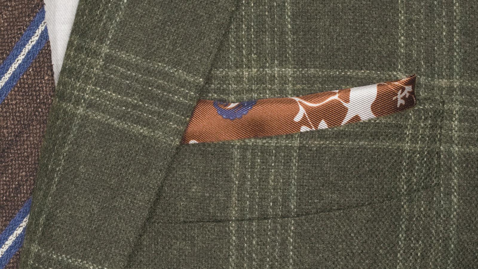 Forest Green Plaid Wool & Cashmere Blazer - slider image 1