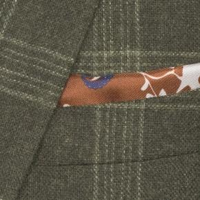 Forest Green Plaid Wool & Cashmere Blazer - thumbnail image 1