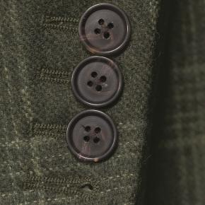 Forest Green Plaid Wool & Cashmere Blazer - thumbnail image 2