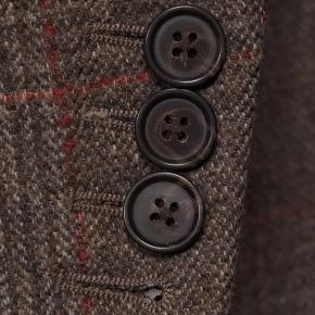 Brown Plaid with Red Overcheck Wool & Cashmere Suit - thumbnail image 1