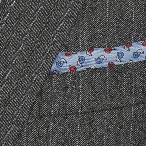 Lavender Stripe Grey Mouline Suit - thumbnail image 1