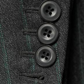 Green Stripe Charcoal Mouline Suit - thumbnail image 2
