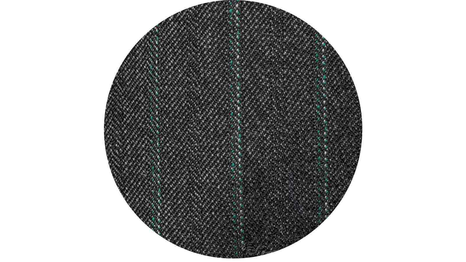 Green Stripe Charcoal Mouline Pants - slider image