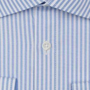 Light Blue Striped Pinpoint Oxford Shirt - thumbnail image 1