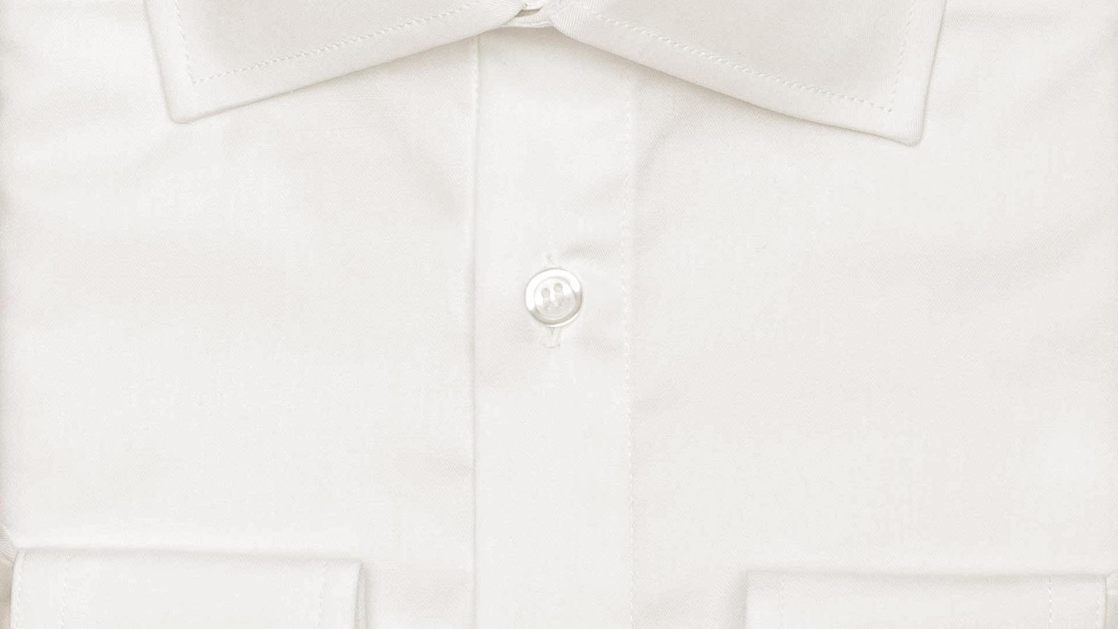 Ivory Cotton Twill Shirt - slider image
