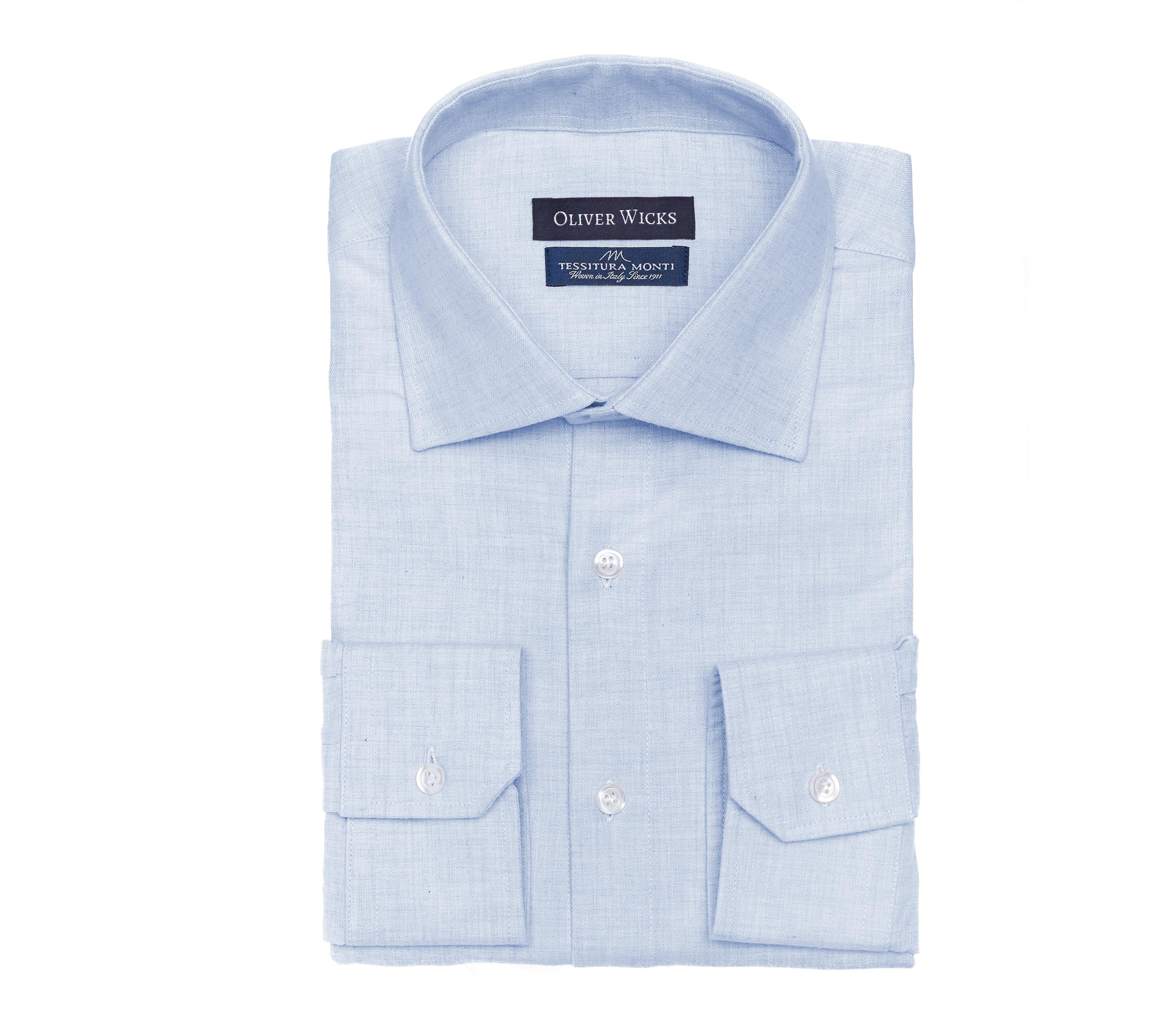 Light Blue Flannel Shirt - slider image