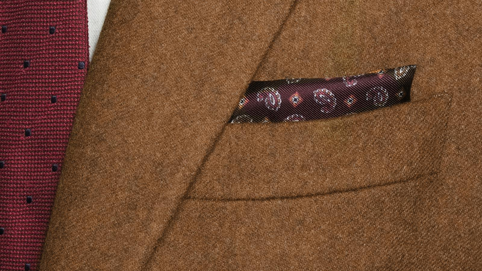 Tobacco Brown Flannel Suit - slider image 1
