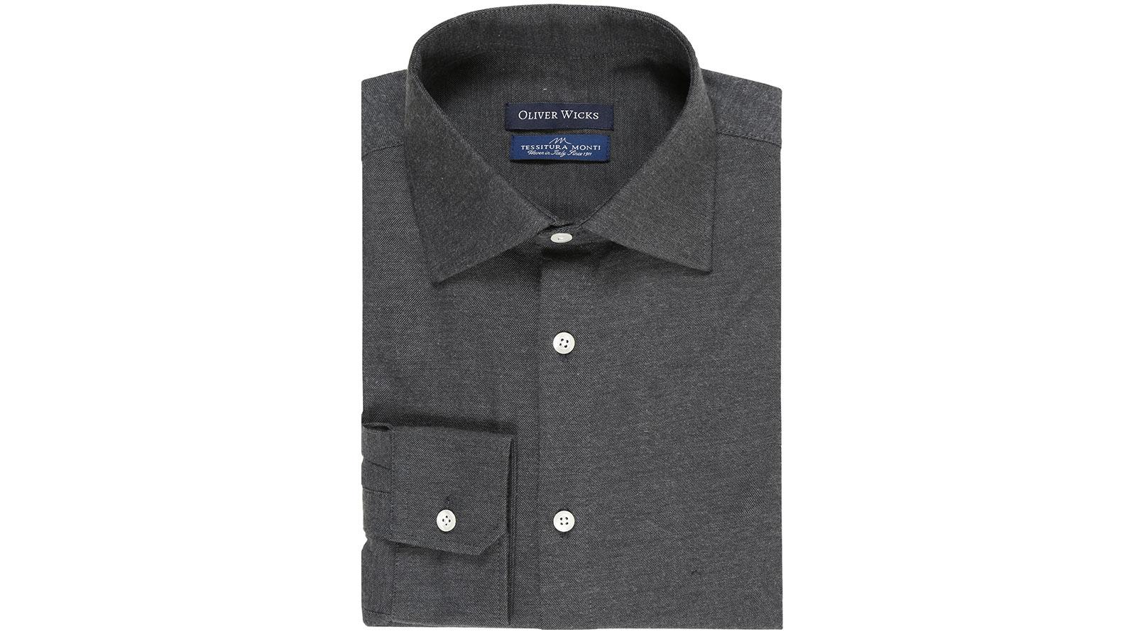 Dark Grey Flannel Shirt - slider image