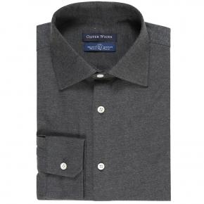 Dark Grey Flannel Shirt - thumbnail image 1