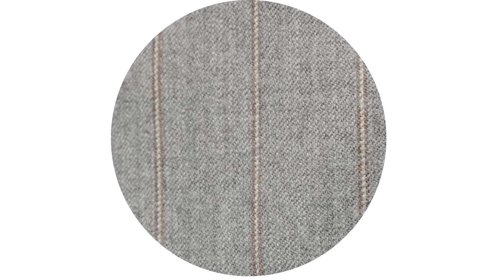 Sartorial Mustard Stripe Light Grey 160s Pants - slider image
