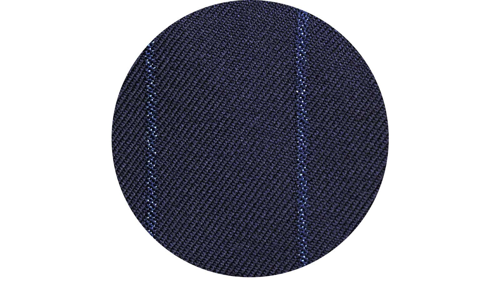 Sartorial Navy Blue Wide Stripe 160s Pants - slider image